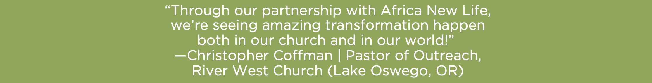 Sponsorship Sunday - Pastor Quote